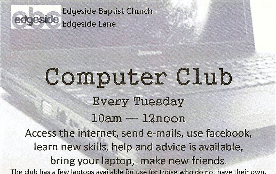 Computer club at Edgeside Baptist